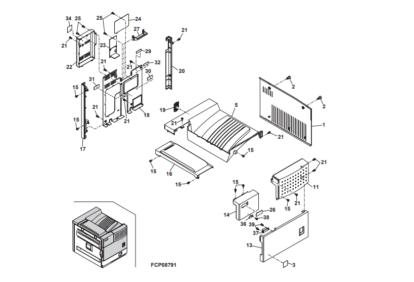یونیت های شارپ AR-M 420 U و نقشه ی اجزای داخلی و درونی دستگاه کپی شارپ