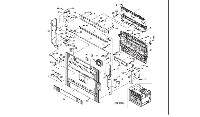 درب سمت چپ دستگاه شامل قسمتهای مختلفی می باشد که بطور کامل ساختار آن را در زیر می بینید.