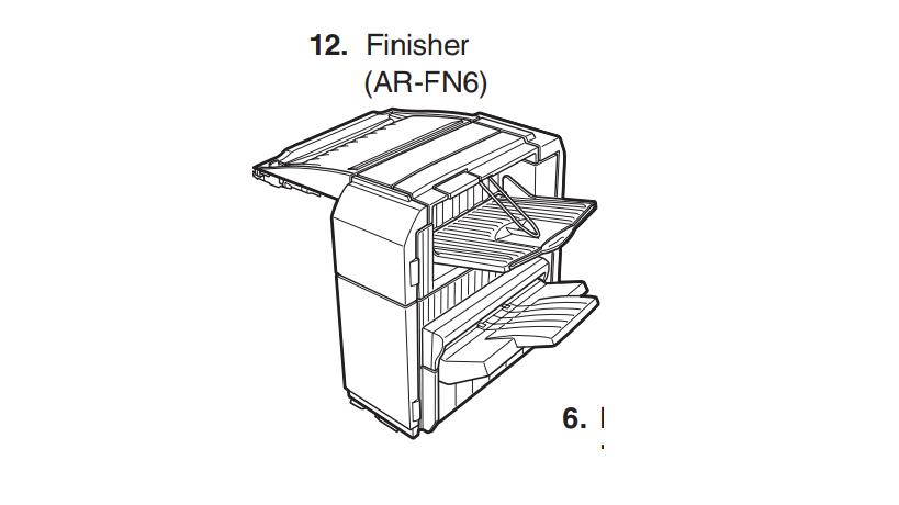 این قسمت از دستگاه کپی شارپ خروجی دستگاه محسوب می شود که کار منگنه کردن جزوات را بر عهده دارد.