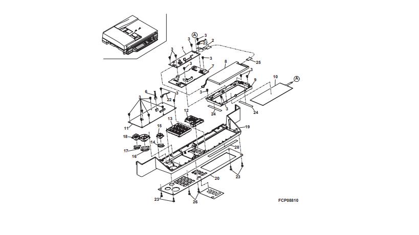 یونیت های شارپ AR-M 420 U و قطعات اجزای تشکیل دهنده ی پنل دستگاه کپی شارپ: