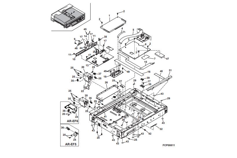 یونیت های شارپ AR-M 420 U و ساختار کامل یونیت اپتیکال دستگاه کپی شارپ: