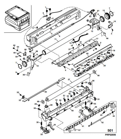 تشریح فیوزینگ شارپ مدل AR-1118 j و کدهای سفارش قطعه یونیت فیوزینگ دستگاه فتوکپی شارپ: