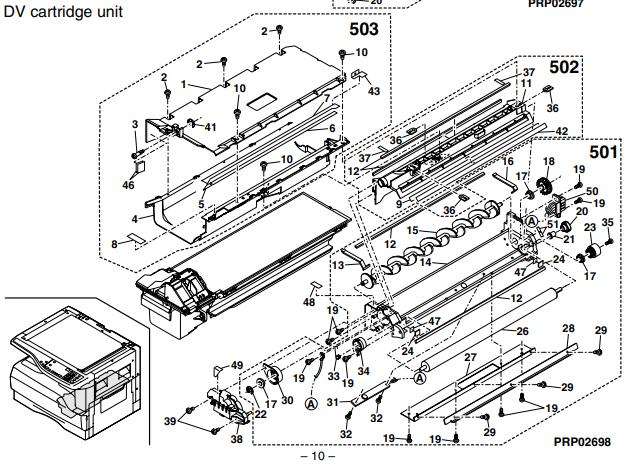 شرح تانک دولوپر شارپ AR-1118 j و کد سفارش قطعه یونیت تانک دولوپر فتوکپی شارپ از نمایندگی کپی شارپ: